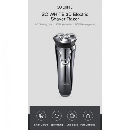 【Ready Stock】XIAOMI Soocas PINJING Shaver 3D ES3 Smart USB Electric Razor IPX7 Waterproof Mi So White SOWHITE Soo Cas