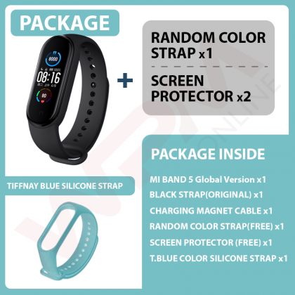 【2 Yrs Warranty】Global Version Xiaomi Mi Band 5 Smart Wristband Stress Female Fitness Blood Heart Rate Monitor Health