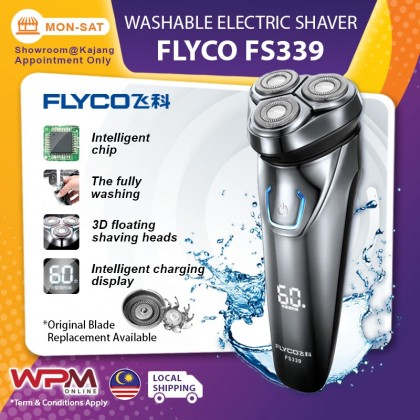 FLYCO Washable Electric Shaver Rechargeable Portable LCD Display Men Razor Hair FS339 Waterproof